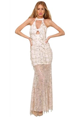 Socialite Round Neck Sequin Dress