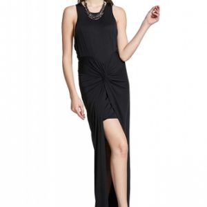 Feminine Curve Dreamy black wrap over Dress